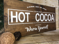Handmade Painted Hot Cocoa Sign