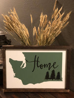 Home, Wood Sign, Washington, Seattle, PNW, Home Sign, Pacific Northwest, Upperleft