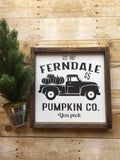 REVERSABLE Fall Winter Customize City Sign for your City/State/County.  12x12