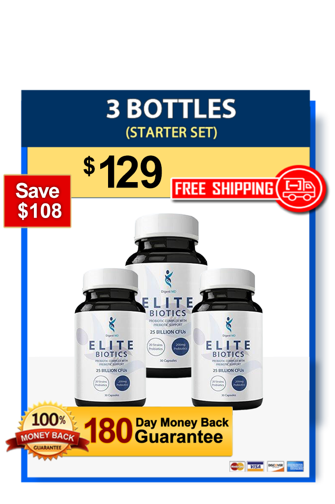 Elite Biotics - 3 Bottles - Video Offer
