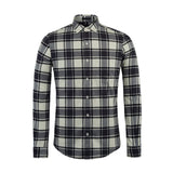 U&SHARK Cotton Flannel Shirts Men Long Sleeve Casual Shirt Camisas 2017 Spring Fashion Mens Plaid Shirts Black Check Shirts Male