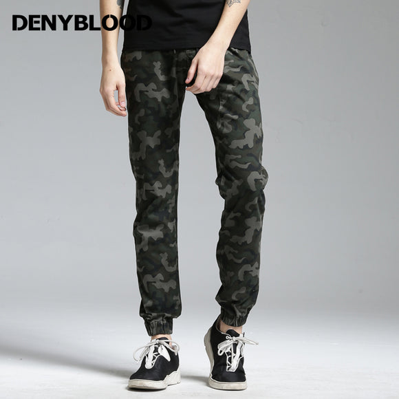 Denyblood Jeans Mens Stretch Cotton Chinos Men Hip-Pop Crotch Pants Camouflage Joggers Pants Military for Men Harem Pants 172080
