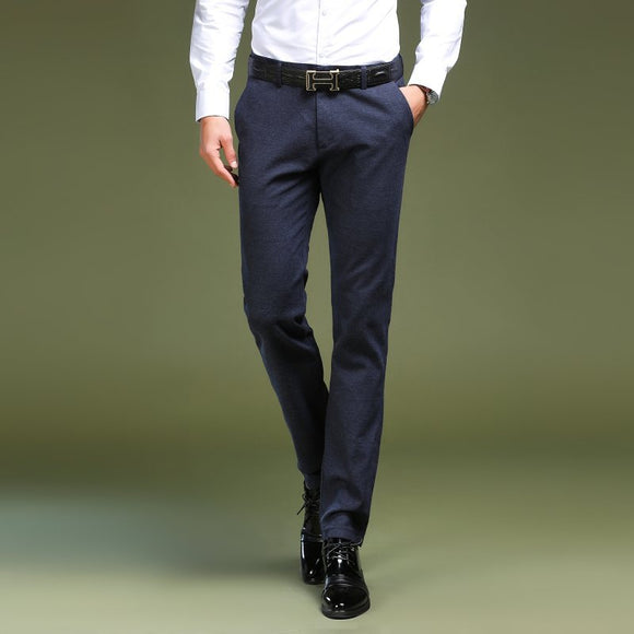 Mens Dress Pants 2018 Formal Men Trousers Office Male High-grade Business Straight Suit Pants Pure Color Casual Thin Dress Pants