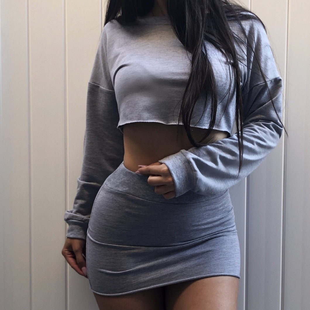 Sweatshirt Crop Set