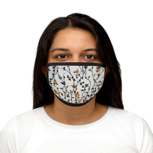 """Vines"" Trimmed Mixed-Fabric Face Mask"