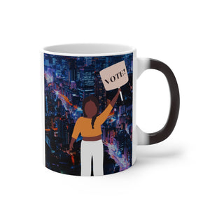 """Vote!"" Color Changing Mug"