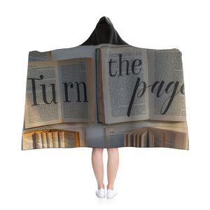 """Turn the Page"" Hooded Blanket"
