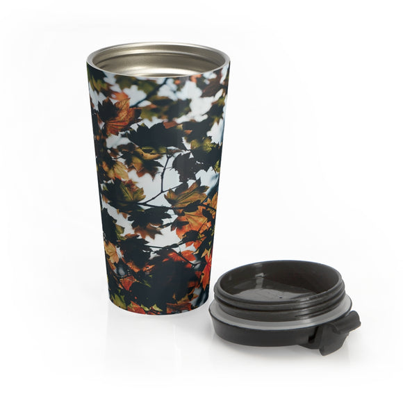 Fall Leaves Stainless Steel Travel Mug