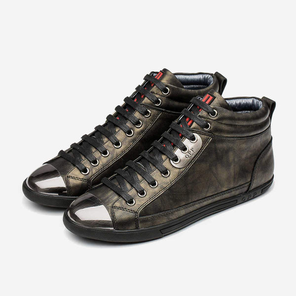 HIGH-TOP METAL SHOES BRONZE - Top High-top Shoes - OPP Official Store (OPP France)