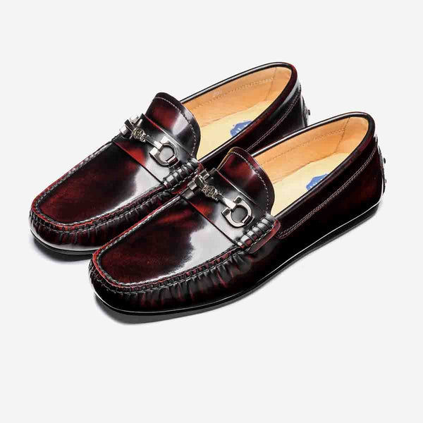 LOAFERS METAL SHOES WINE - Top Loafers Shoes - OPP Official Store (OPP France)