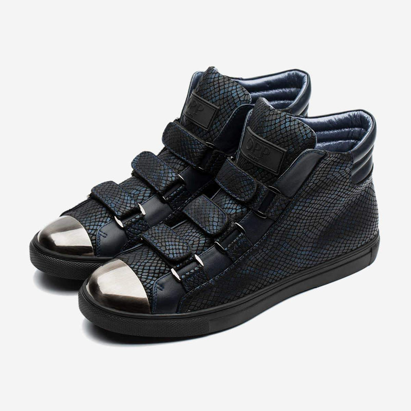 HIGH-TOP HOOK&LOOP SHOES BLUE - Top High-top Shoes - OPP Official Store (OPP France)