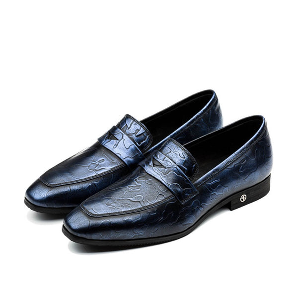 BUCKLE DRESS SHOES BLUE - Top Dress Shoes - OPP Official Store (OPP France)