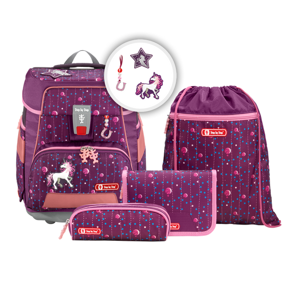 Step by Step Schulranzen e-Space 5tlg.Set Dreamy Unicorn