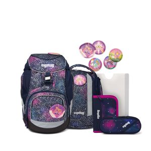 ergobag Schulranzen pack-Set Bärlaxy SUPER REFLEX GLOW EDITION 6-teilig