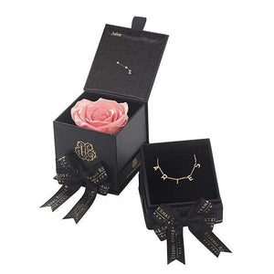 Eternal Roses® Amarylis Aries Astor Box & Necklace Bundle