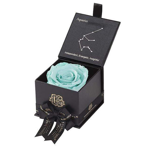 Eternal Roses® Black / Tiffany Blue Astor Eternal Rose Gift Box - Aquarius