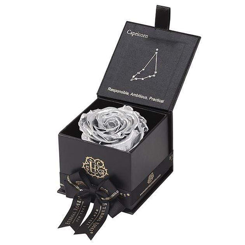 Eternal Roses® Black / Silver Astor Eternal Rose Gift Box - Capricorn