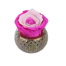 Eternal Roses® Centerpiece Fuschia Lily Mini Soho Steel Eternal Luxury Rose