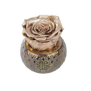 Eternal Roses® Centerpiece Gold Mini Soho Steel Eternal Luxury Rose