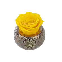 Eternal Roses® Centerpiece Friendship Yellow Mini Soho Steel Eternal Luxury Rose