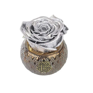 Eternal Roses® Centerpiece Silver Mini Soho Steel Eternal Luxury Rose