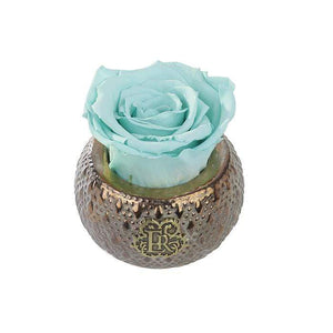 Eternal Roses® Centerpiece Tiffany Blue Mini Soho Steel Eternal Luxury Rose