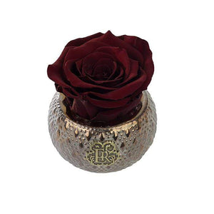 Eternal Roses® Centerpiece Wineberry Mini Soho Steel Eternal Luxury Rose
