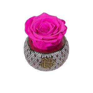 Eternal Roses® Centerpiece Hot Pink Mini Soho Steel Eternal Luxury Rose