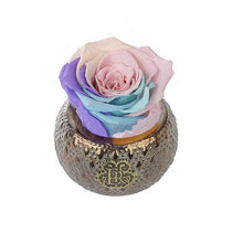 Eternal Roses® Centerpiece Candy Rainbow Mini Soho Steel Eternal Luxury Rose