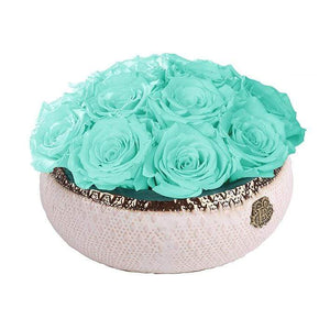Eternal Roses® Centerpiece Small / Tiffany Blue Soho CLASSIC Eternal Roses Arrangement
