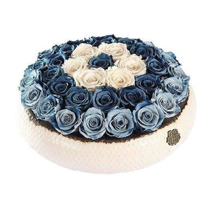 Eternal Roses® Centerpiece Soho Rose Arrangement In Denim, large