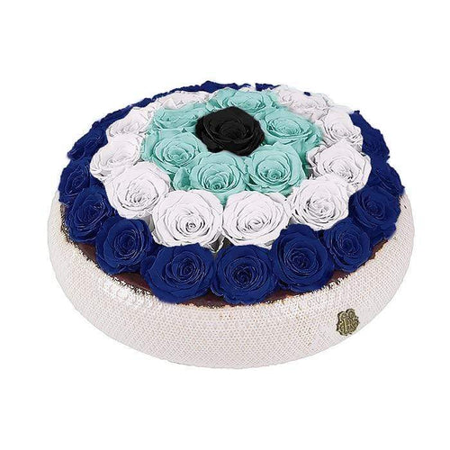 Eternal Roses® Centerpiece Soho Rose Arrangement In Evil Eye, large