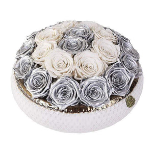 Eternal Roses® Centerpiece Soho Rose Arrangement in Mercury, medium