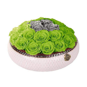 Eternal Roses® Centerpiece Soho Rose Arrangement in Mojito & Silver, medium