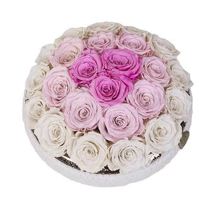 Eternal Roses® Centerpiece Soho Rose Arrangement in Snow Angel, medium