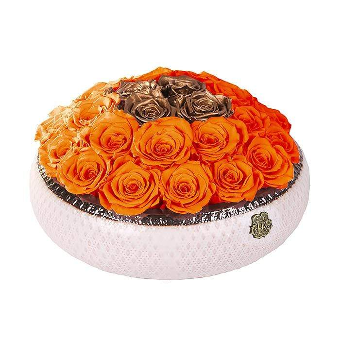 Eternal Roses® Centerpiece Soho Rose Arrangement in Sunset & Gold, medium