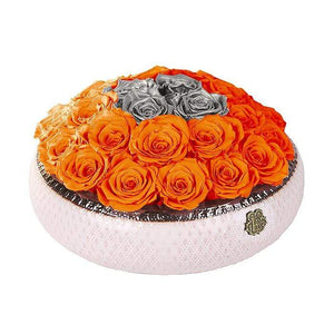Eternal Roses® Centerpiece Soho Rose Arrangement in Sunset & Silver, medium