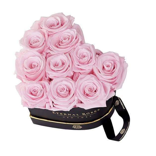 Eternal Roses® Black Chelsea Eternal Rose Gift Box in Pink Martini