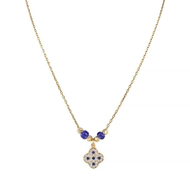 Eternal Roses® Clover Pave Necklace in Sapphire