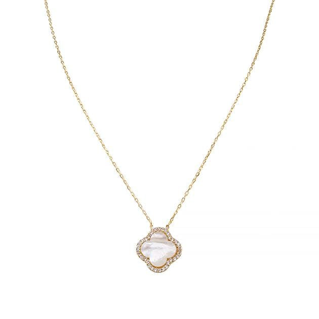 Eternal Roses® Clover Shell Necklace