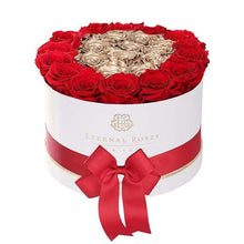 Eternal Roses® White Empire Black Gift Box in Be Mine