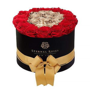 Eternal Roses® Empire Black Gift Box in Be Mine, Large