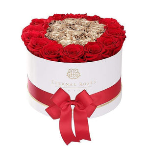 Eternal Roses® Empire White Gift Box in Be Mine, Large