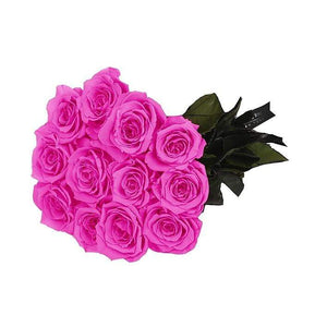 Eternal Roses® 12 Roses / Hot Pink Eternal Roses Bouquet-Local Pick up only