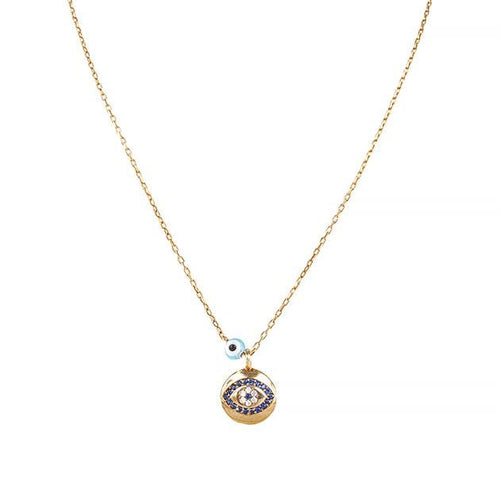 Eternal Roses® Evil Eye Charm Necklace with Sapphire