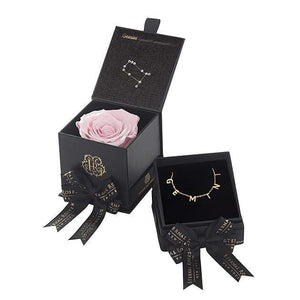 Eternal Roses® Blush Gemini Astor Box & Necklace Bundle