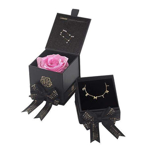Eternal Roses® Primrose Gemini Astor Box & Necklace Bundle
