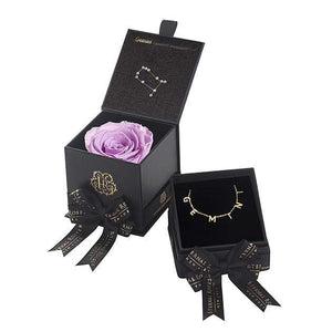 Eternal Roses® Lilac Gemini Astor Box & Necklace Bundle
