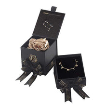 Eternal Roses® Gold Gemini Astor Box & Necklace Bundle