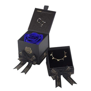 Eternal Roses® Azzure Gemini Astor Box & Necklace Bundle